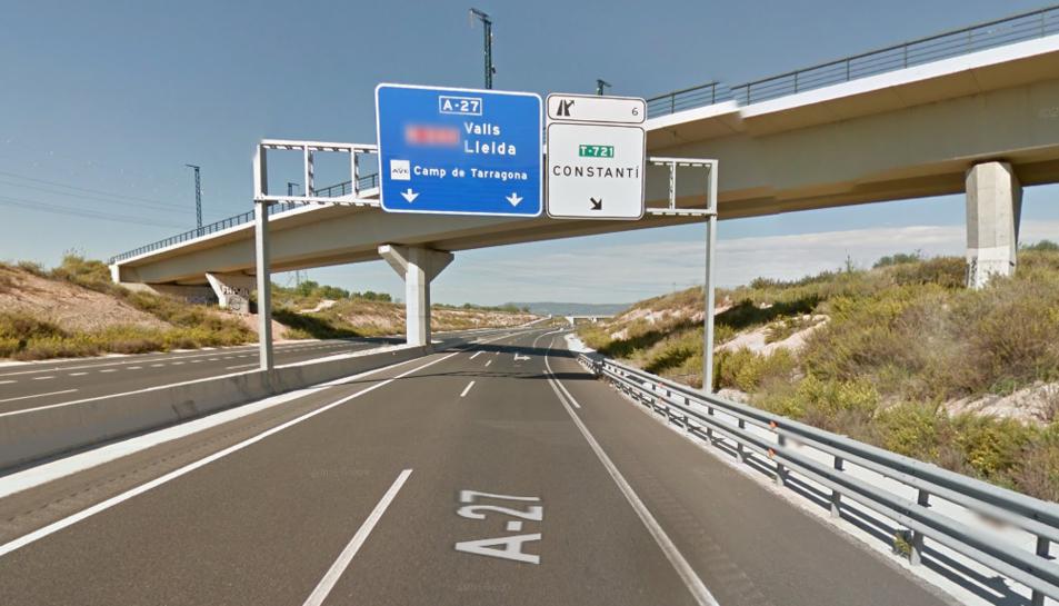 L'accident s'ha produït a l'A-27, a l'alçada de Constantí.