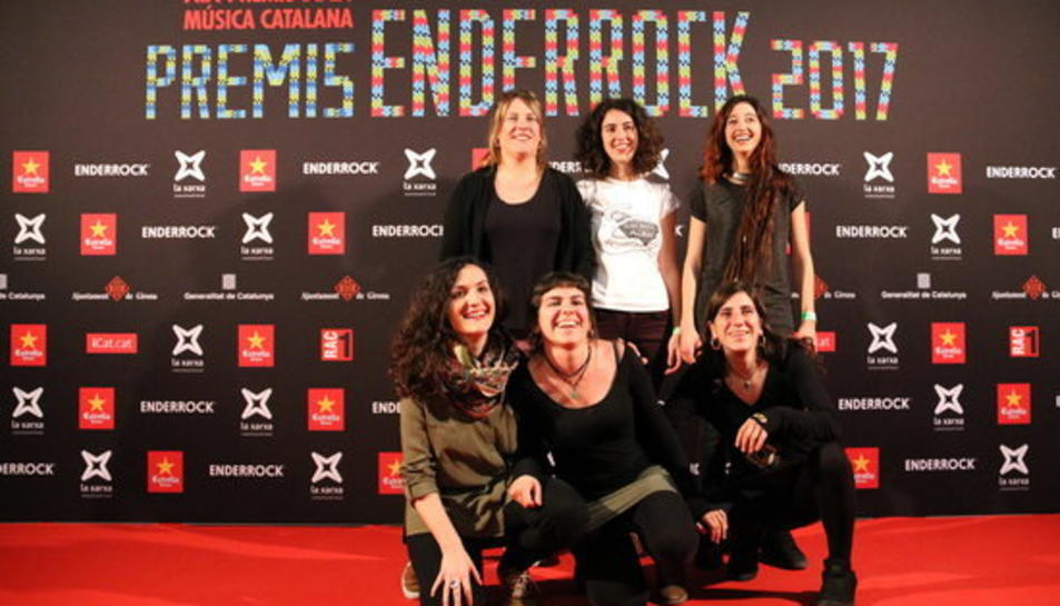 El grup Roba Estesa, que s'ha fet amb quatre guardons aquesta nit als Premis Enderrock 2017.