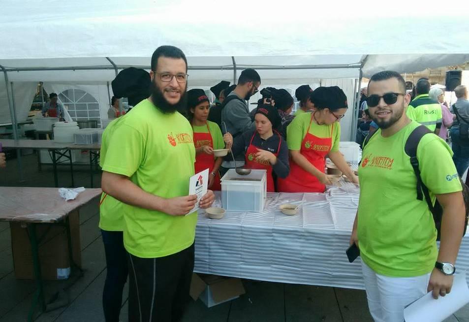 Membres de la junta, a la festa del reaprofitament alimentari.