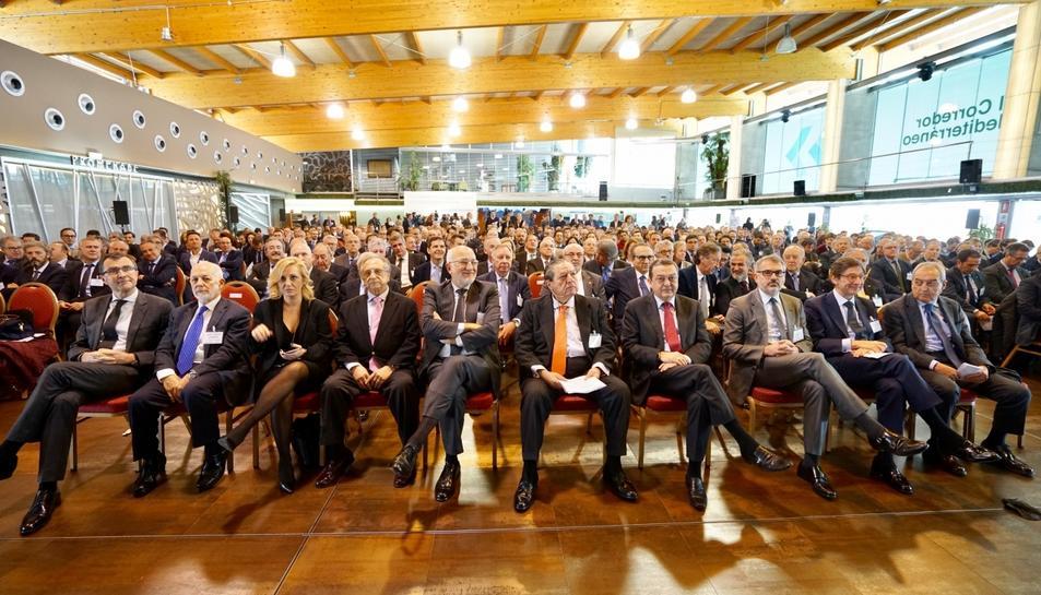 Alguns dels empresaris en primera filera, en un acte que va reunir més de 500 empresaris.