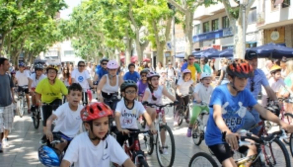 Una passada edició de la Festa de la Bicicleta del Vendrell.