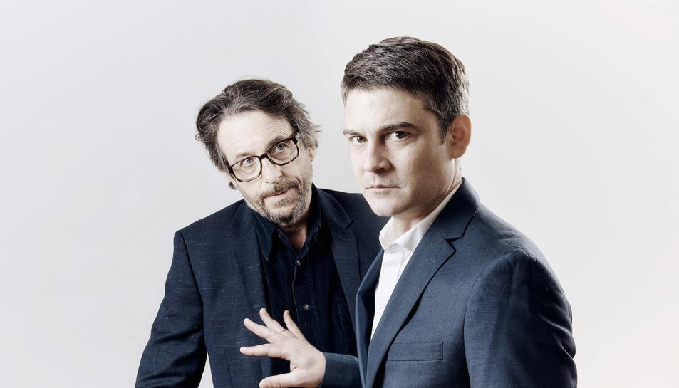 Imatge dels dos actors que protagonitzen l'obra.