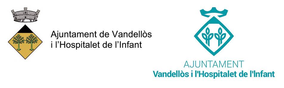 L'escut antic i el nou de Vandellòs i l'Hospitalet