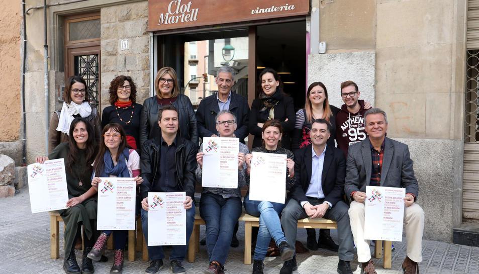 Foto de grup dels organitzadors del Festival.