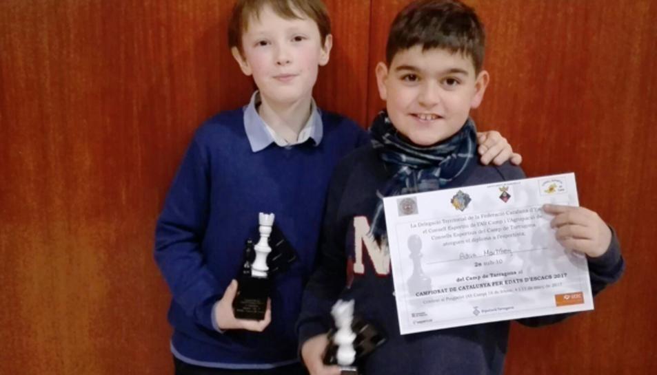 Imatge dels campions d'escacs.