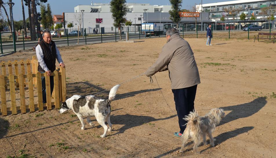 Imatge del nou espai d'esbarjo per a gossos del Barri Juroca.