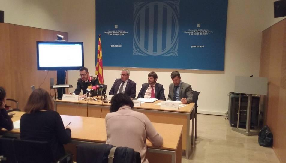 Un moment de la presentació a Tortosa del balanç de seguretat de la Regió Policial Terres de l'Ebre.