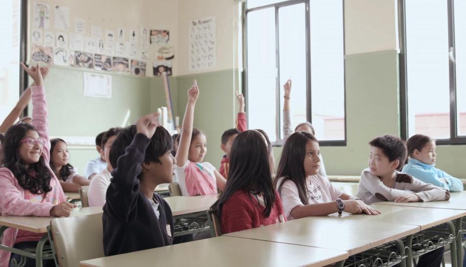 Escolars de primària que han participat al concurs estatal.