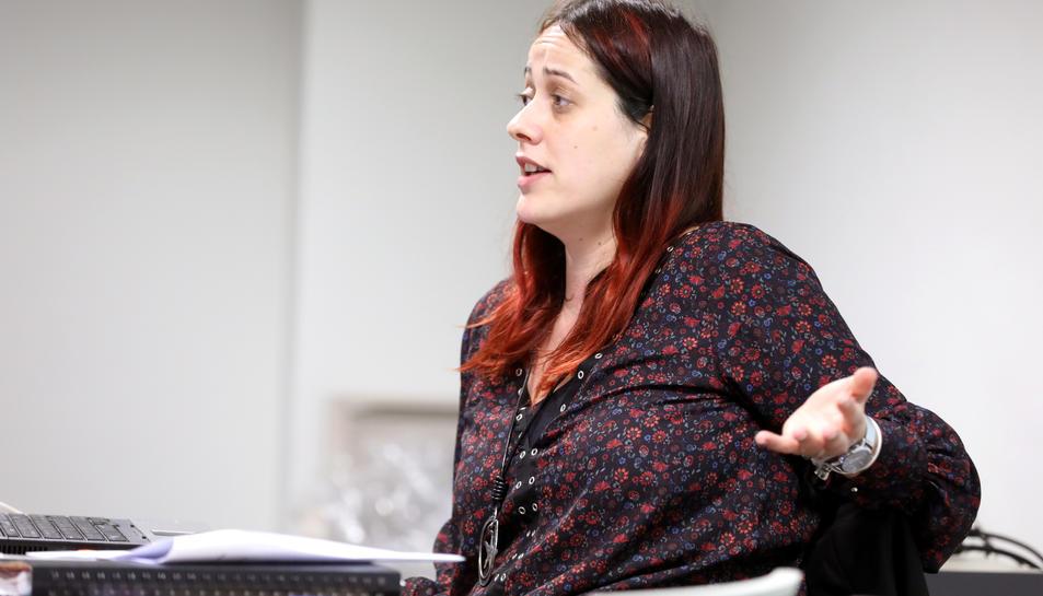 La psicòloga Patricia Jordán va dirigir el taller.
