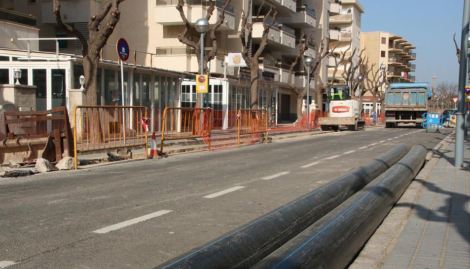 Estat del carrer Montserrat Caballé degut a les obres