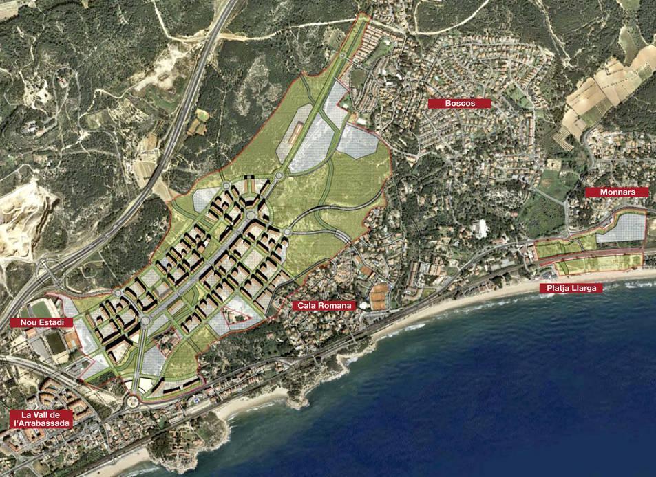 El projecte, ara retirat, preveu la construcció de prop de cinc mil habitatges.
