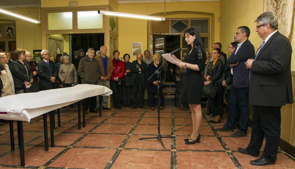 Fotografia del primer acte de conmemoració de 'La Nova Amistat'.