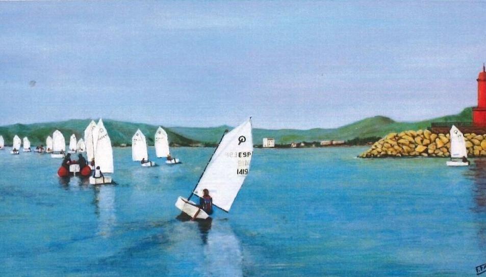 El mar és el protagonista indiscutible en les creacions de l'artista.