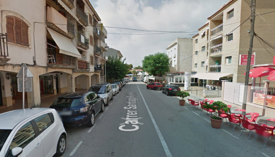 El lladre va robar en un establiment comercial del carrer Santiago Rusiñol.