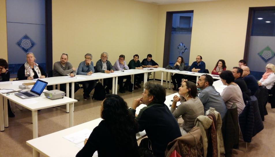 Fotografia de la reunió que va tindre lloc el dilluns 20 de març.