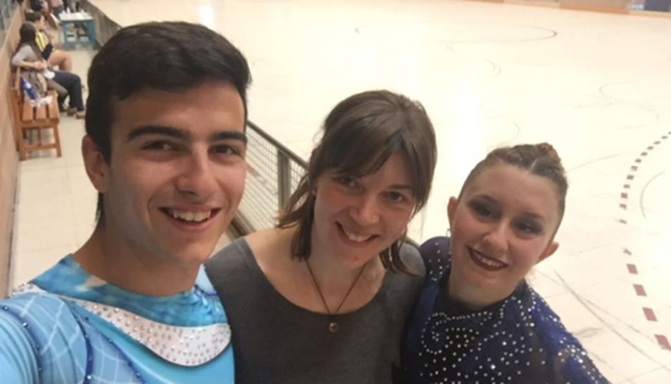 Fotografia dels dos patinadors de Calafell