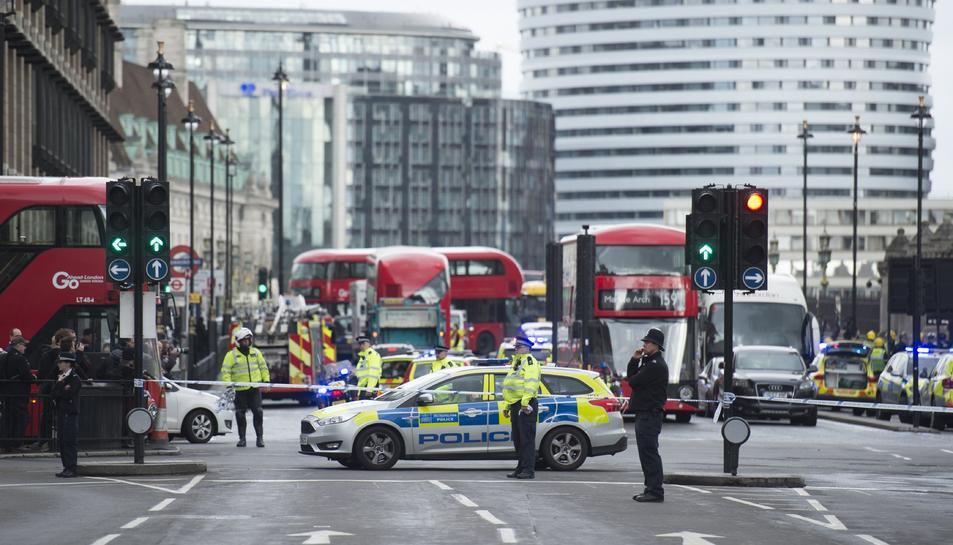 La situació al pont de Westminster