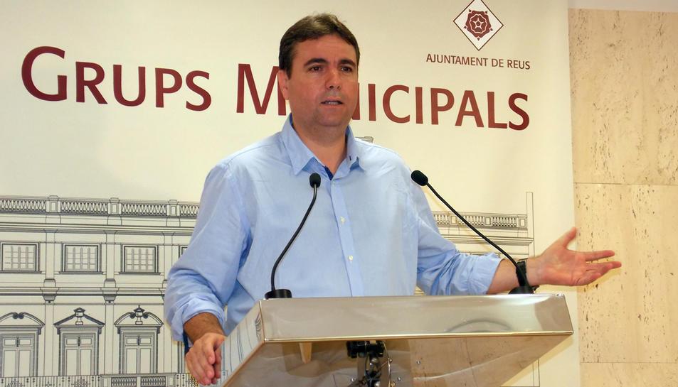 El portaveu del Grup Municipal de Ciutadans a l'Ajuntament de Reus, Juan Carlos Sánchez