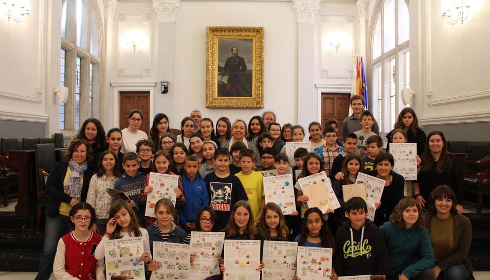 Foto de grup dels guanyadors del concurs d'auques de l'Any Toda.