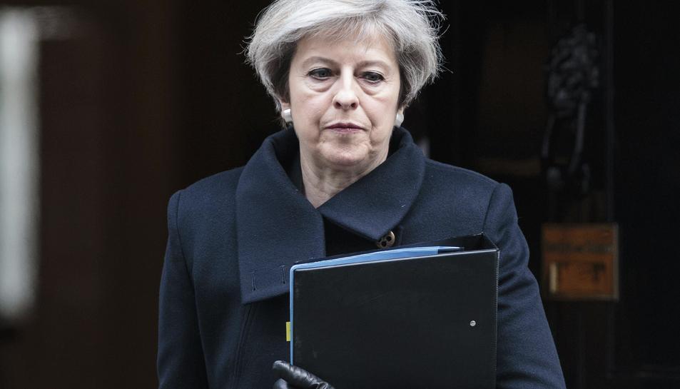 La primera ministra Britànica, Theresa May, aquest 23 de març del 2017.