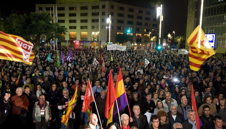 Imatge d'arxiu de la manifestació durant la vaga general del 14 de novembre del 2012.