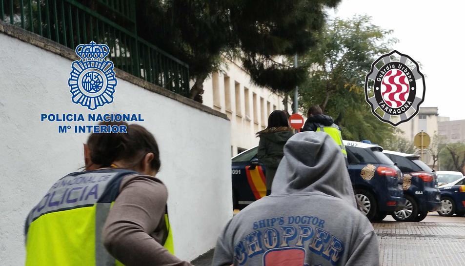 Imatge de la detenció d'un dels integrants de l'organització.