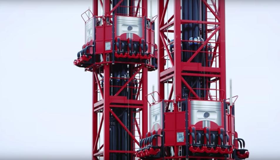 Imatge de l'accelerador vertical de Ferrari Land.