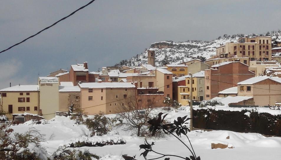 La nevada en Vilanova de Prades (1)