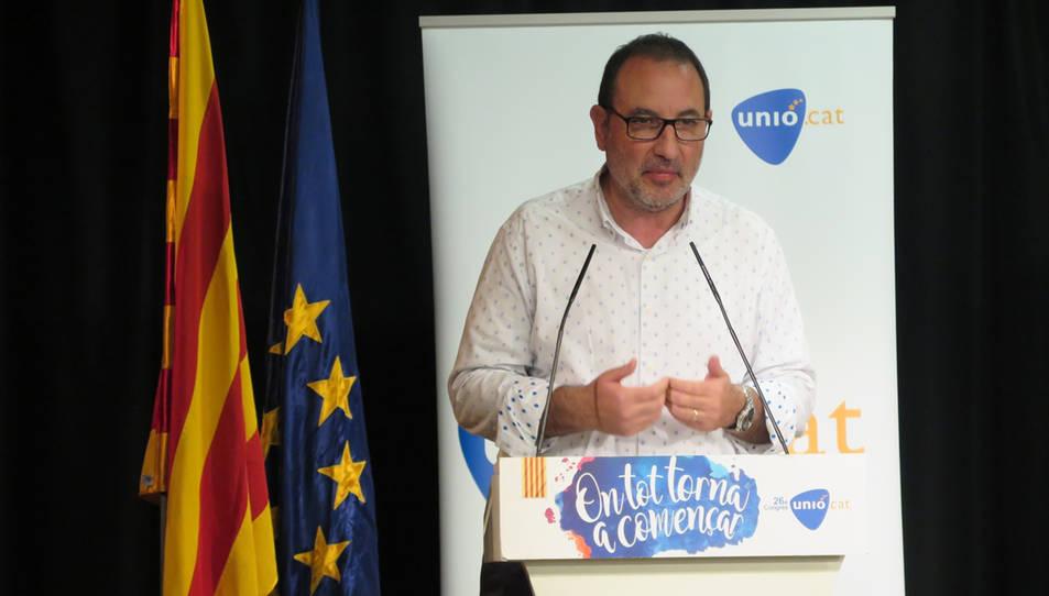 Espadaler, Secretari General d'Unió, en l'últim congrès del partit.