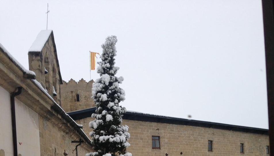 També ha nevat a Santa Coloma de Queralt.