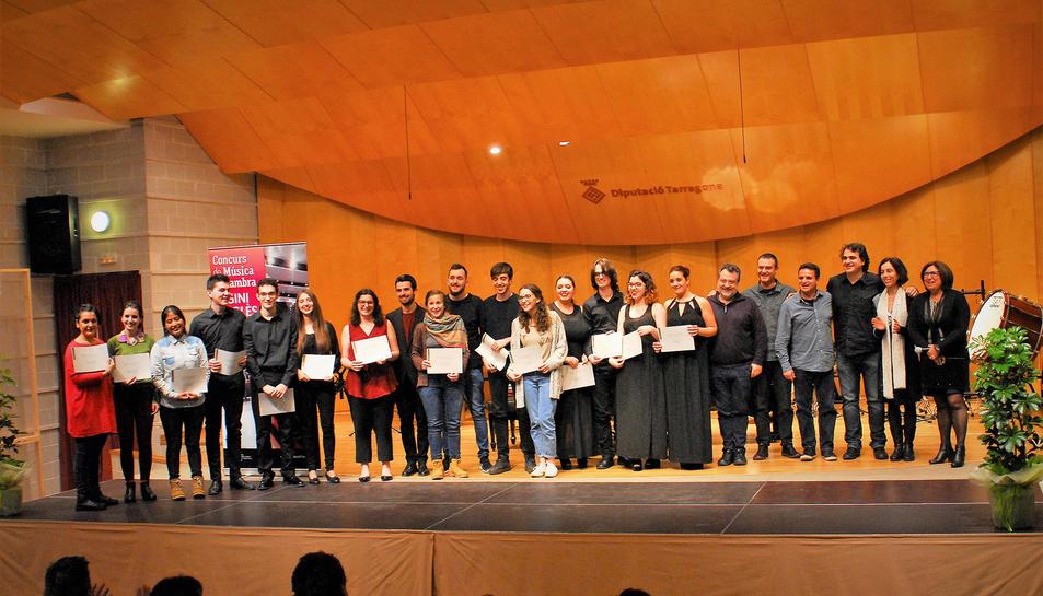 Una fotografia de família dels premiats.