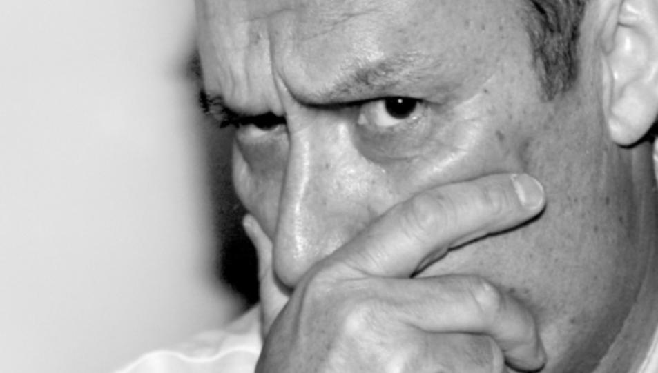 El rostre expressiu de Marc Fargas, en la caràtula del llibre.