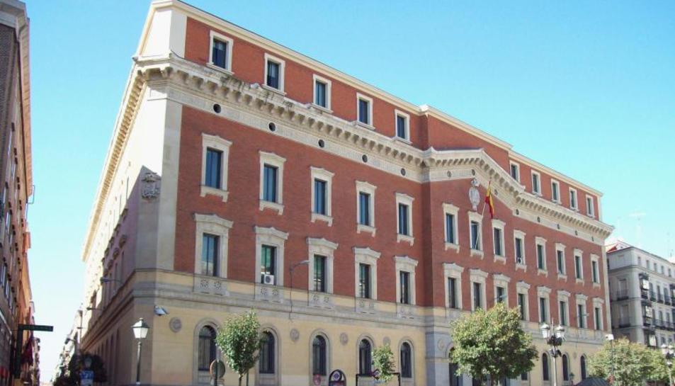 Una imatge de l'exterior del Tribunal de Cuentas, a Madrid.