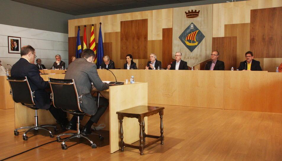 El Plenari de l'Ajuntament de Salou en una imatge d'arxiu. La liquidació s'aprova en el ple d'avui.