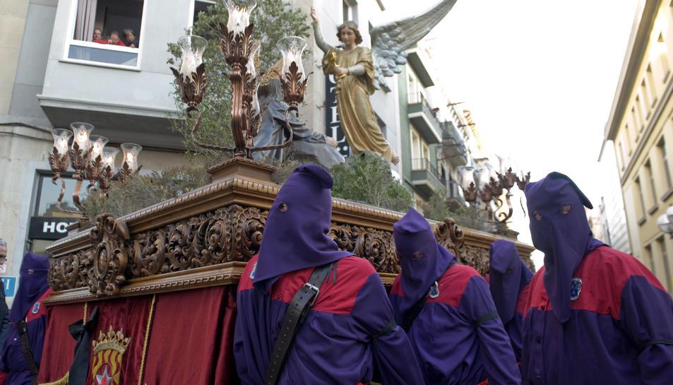 El pas l'Oració a l'Hort ha estat restaurat en un taller familiar de Guadalajara especialitzat en art religiós.