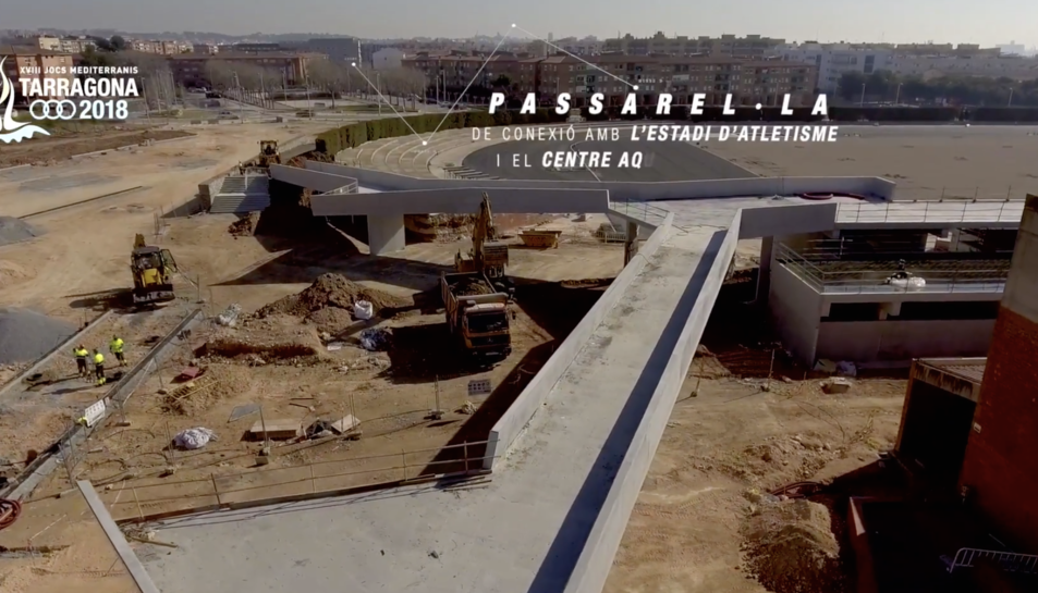 Les obres a l'Anella Mediterrània a vista de dron