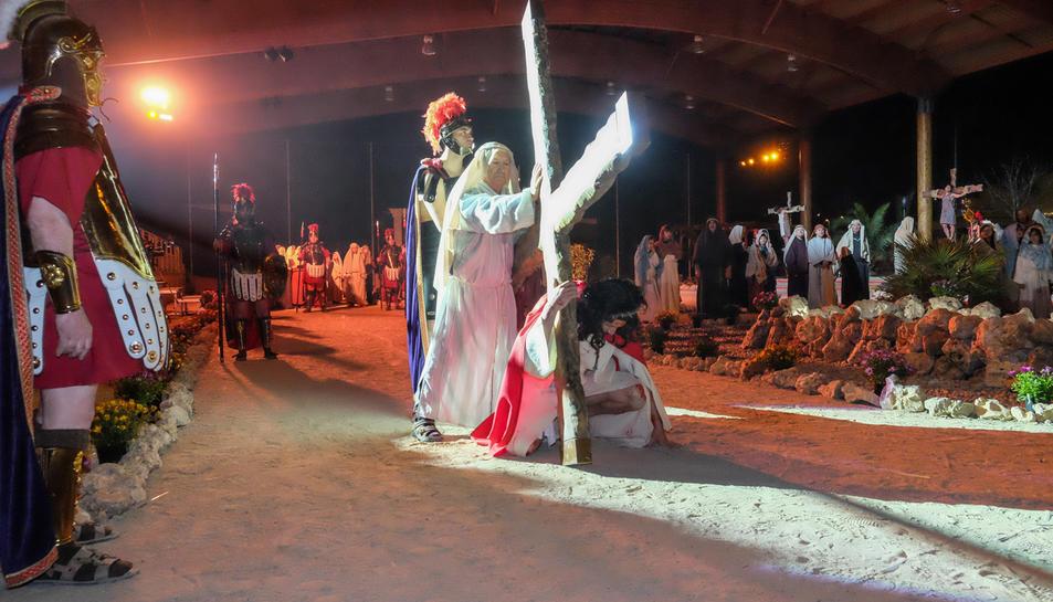El Misteri de la Passió de Setmana Santa representat a l'edició passada.