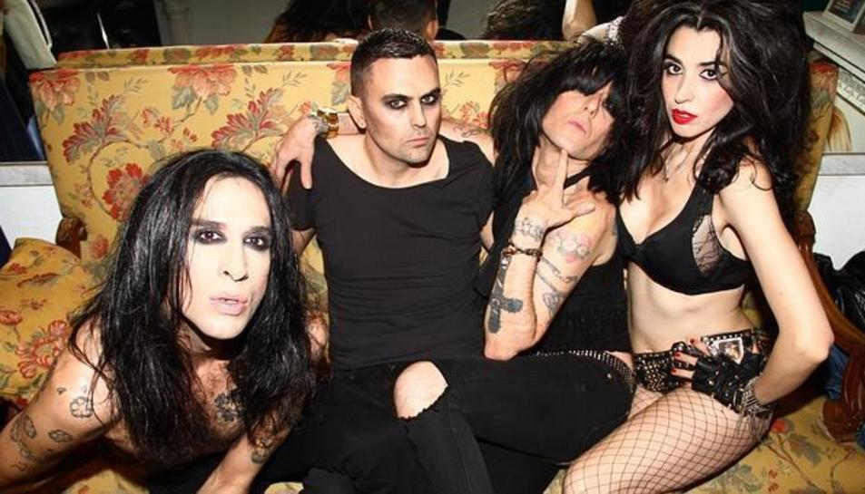 Els integrants de Nancys Rubias, la banda que lidera Mario Vaquerizo.