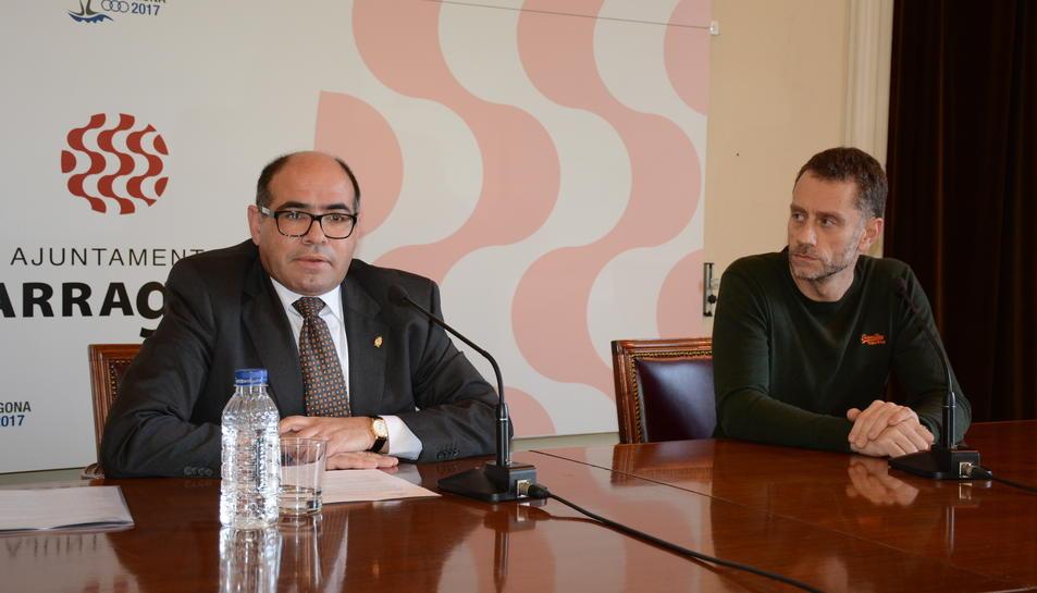 Josep Maria Prats, regidor de Cultura i Joan Negrié, responsable del FITT.