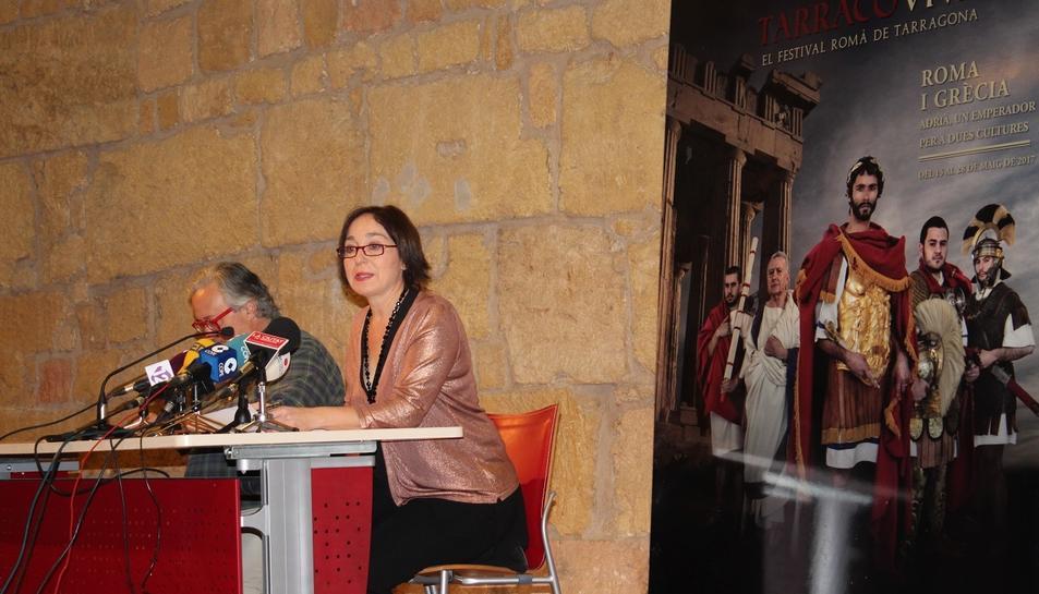 Imatge de la presentació del festival Tarraco Viva, aquest dimecres.