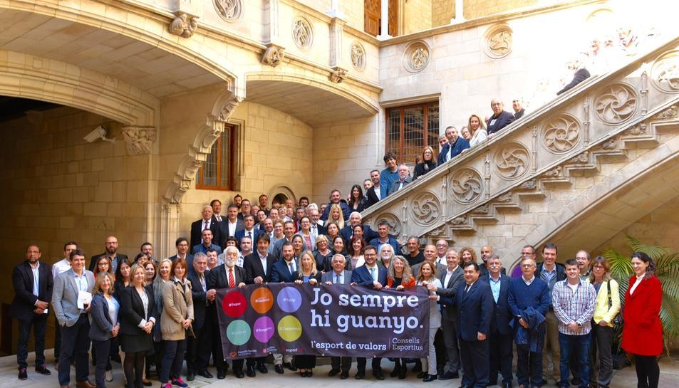 La presentació de la campanya, al Palau de la Generalitat, va ser multitudinària.
