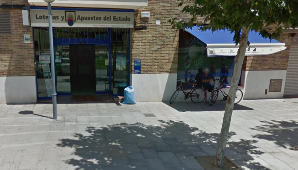 L'exterior de l'administració Lotería SortAventura, ubicada a l'Avinguda Ramon d'Olzina.