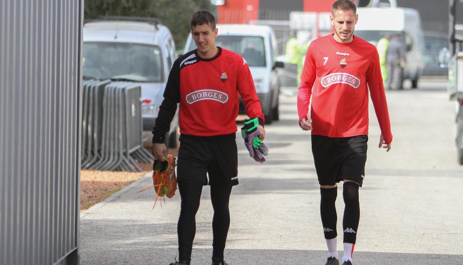 Edgar Badia i David Querol són dos dels futbolistes que han renovat contracte a Reus.