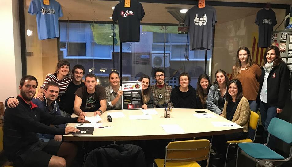 Els membres de l'Euskal Komisioa de Reus, organitzadors de la trobada.