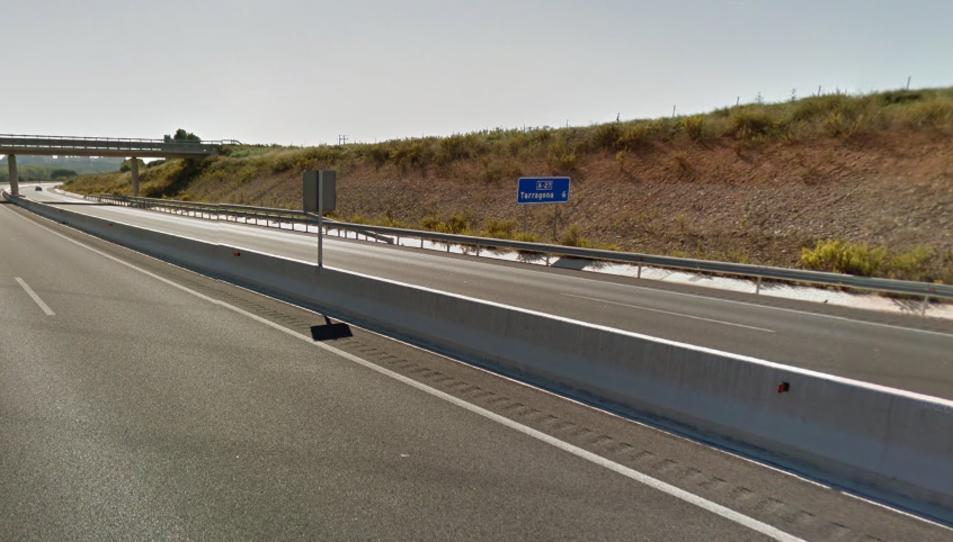 L'A-27 ha estat tallada en sentit Tarragona