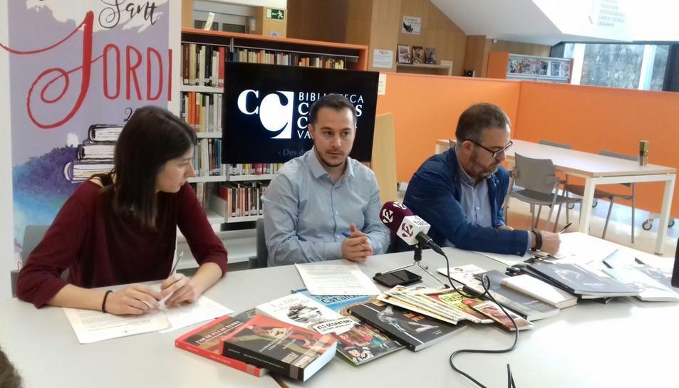 Imatge de la presentació dels actes de Sant Jordi a Valls.