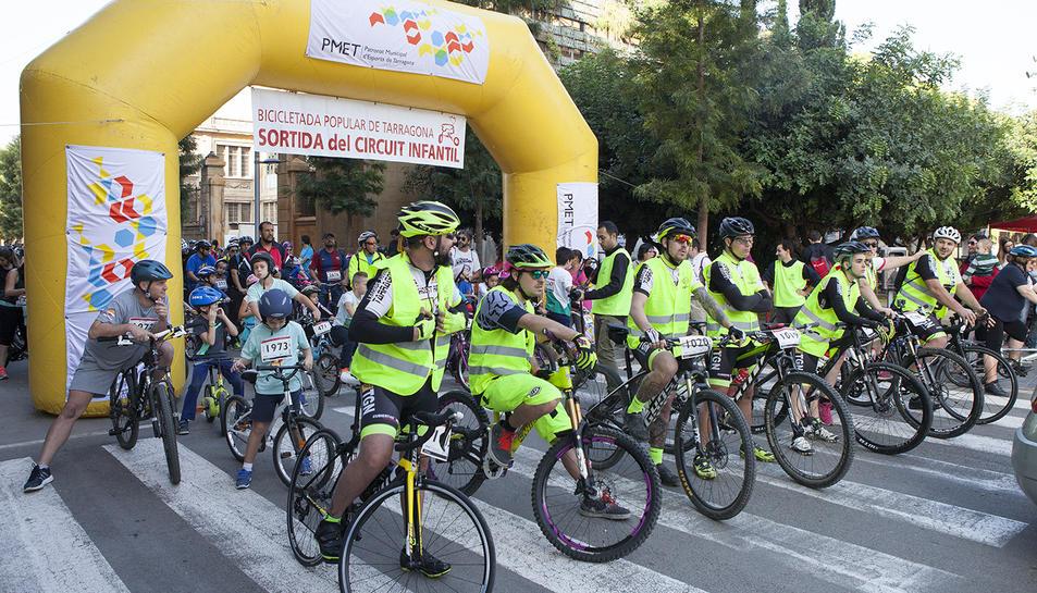 Imatge d'arxiu de la Bicicletada Popular de Tarragona de 2016.
