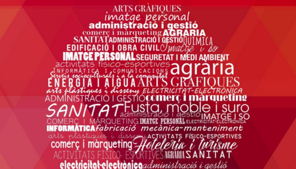 Imatge del cartell promocional de la 3a Fira Camins d'FP.