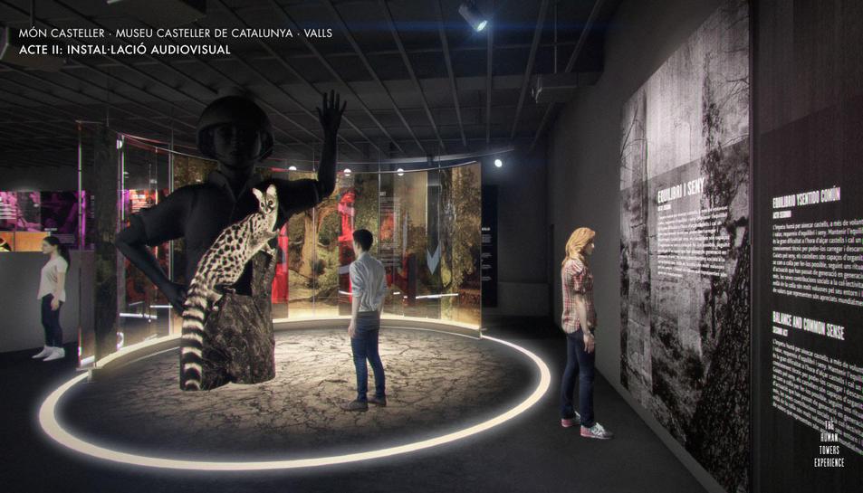 Imatge virtual d'una de les sales del futur Museu Casteller