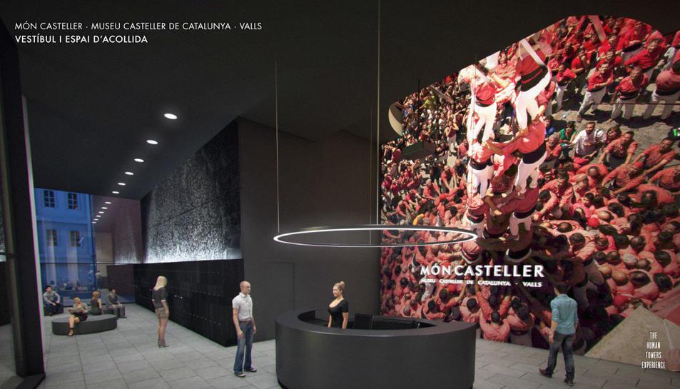 Imatge virtual de l'espai d'accés al Museu Casteller